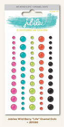 Jubilee Wild Berry Adhesive Enamel Dots