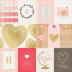 """Kiss Kiss Cut outs with Gold Specialty Cardstock 12""""x12"""" - 1"""