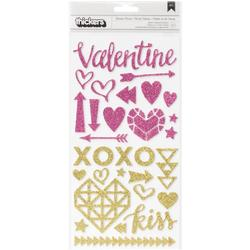 """Kiss Kiss Thickers Accent Stickers 5.5""""x11"""" 2 sheets"""