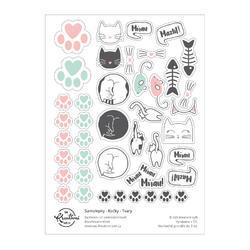 Kočky Papírové samolepky - tvary