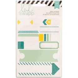 Label Stickers – Teal
