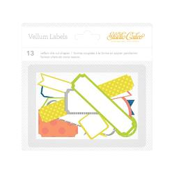 Lemonlush Die-Cut Vellum Labels 13 pkg