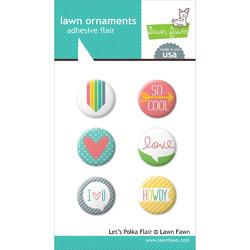 Let's Polka Lawn Ornaments Adhesive Flair 6 pkg
