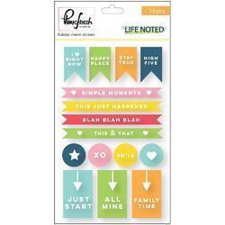 Life Noted Chipboard Rubber Charm Stickers - 1
