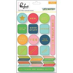 Life Noted Chipboard Stickers