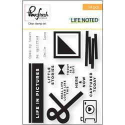 "Life Noted Clear Stamp Set 4""x6"" - 1"