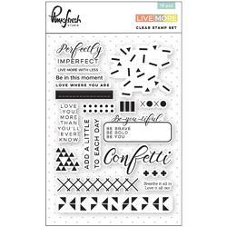 """Live More Clear Photopolymer Stamps 4""""X6"""""""