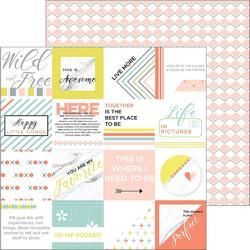 "Live More Rise Double-Sided Cardstock 12""X12"""