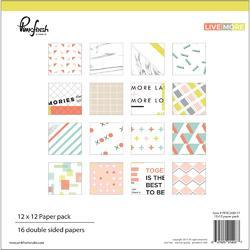 "Live More Double-Sided Paper Pack 12""x12"""