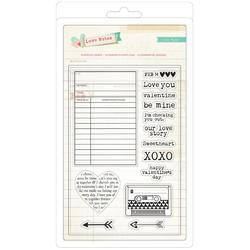 Love Notes Acrylic Stamp Set 14 Pieces