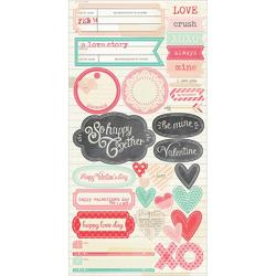 "Love Notes Cardstock Sticker Journaling Title 6""x12"""