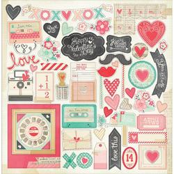 Love Notes Chipboard Sticker Accents 12x12