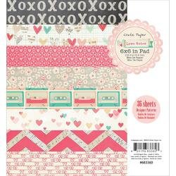"Love Notes Paper Pad 6""x6"" 36/Sheets"