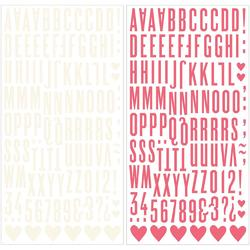 "Love Notes Thickers Alpha Stickers Pink/Cream Foam 5.5""X11"""