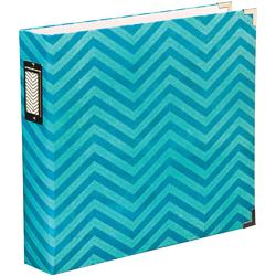 "Maggie Holmes  Chevron - Printed Chipboard D-Ring Album 12""x12"""