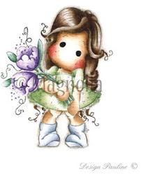 Magnolia - Tilda w/ Fantasy Flower Cling Stamp - 1