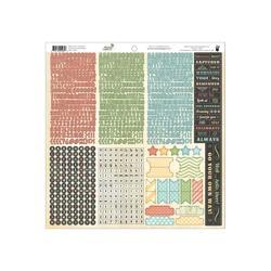 """Memories Captured Cardstock Stickers 12""""x12"""" Sheet"""