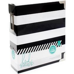 Memory Planner Black & White Stripe Storage Binder