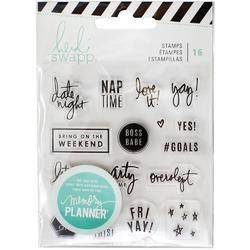 Memory Planner Clear Stamps - Weekend