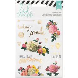 Memory Planner Floral Clear Stickers