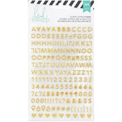Memory Planner Gold & Pink Glitter Alphabet Stickers