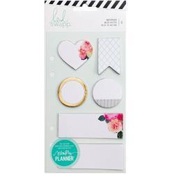 Memory Planner Note Pads White 6/Pkg