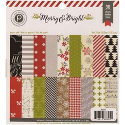 "Merry & Bright Paper Pad 6""x6"" 36 pkg - 1"