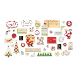 Merry Little Christmas - Die-Cut Cardstock Ephemera