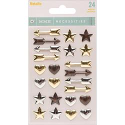 Metallic Necessities Adhesive Enamel Shapes 24 pkg