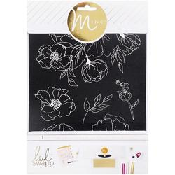 "Minc Art Floral Screen 6.5""x8.5"" - 1"