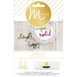 Minc Die-Cut Words 5 pkg