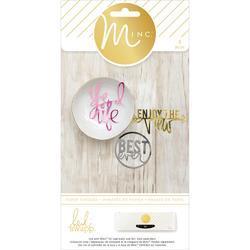 Minc Die-Cut Phrases 4 pkg
