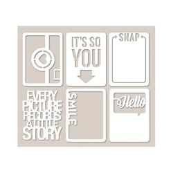 Mini Placemats Die-Cut Cardstock Cards SMILE - 1