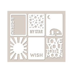 Mini Placemats Die-Cut Cardstock Cards STAR