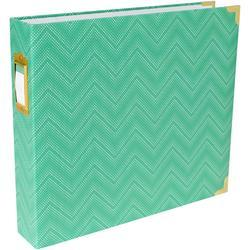 "Mint Chevron Project Life D-Ring Album 12""X12"""