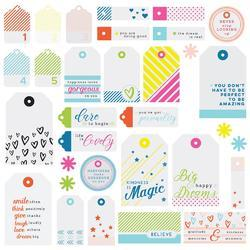Mix No. 1 Acetate Die-Cuts Tags 32/Pkg - 1