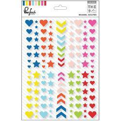 """Mix No. 1 Enamel Stickers Enamel Shapes 6""""X8"""" - 1"""