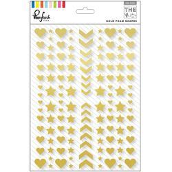 "Mix No. 1 Foam Stickers Gold Shapes 6""X8"" - 1"