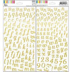 "Mix No. 1 Foiled Stickers Alpha 5.5""X11"" 2/Pkg"