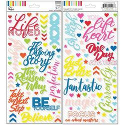 "Mix No. 1 Puffy Stickers 5.5""X11"" 2/Pkg - 1"