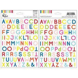 """Mix No. 1 Vellum Stickers Alpha 6""""X8"""" 2/Pkg - 1"""