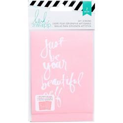 "Art Screens Stencils 3""x4"" 2 pkg - Beautiful - 1"