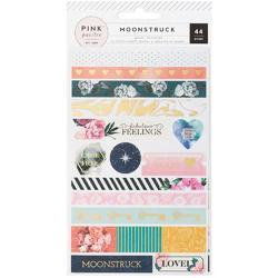 Moonstruck Washi Shape Stickers wGold Foil 3/Sheets