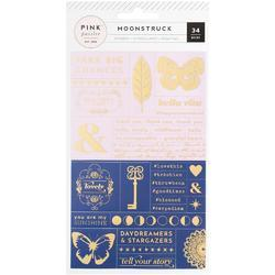 Moonstruck Word Jumble Stickers wGold Foil