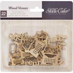 My Type Heyday Laser-Cut Wood Veneer Shapes - 1