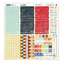 Nautical Cardstock Stickers 12x12