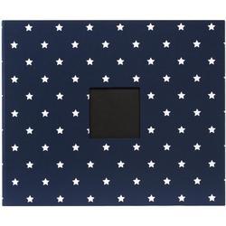 "Navy Stars Patterned D-Ring Album 12""x12"""