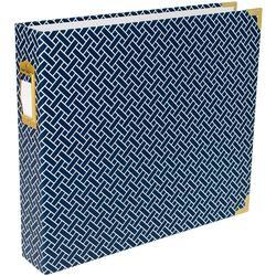 "Navy Weave Project Life D-Ring Album 12""X12"""