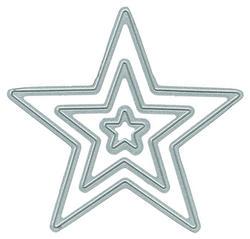 Nested Stars DIY Steel Die - 1