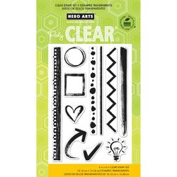 Notebook Essentials Clear Stamps